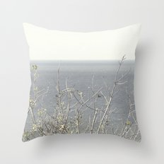 Branches at the sea Throw Pillow