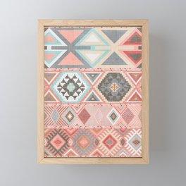Aztec Artisan Tribal in Pink Framed Mini Art Print
