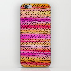FUNKY RHYTHM 2 - Beautiful Fun Collaboration w Sreetama Ray, Pretty Feminine Pink Orange Pattern iPhone & iPod Skin