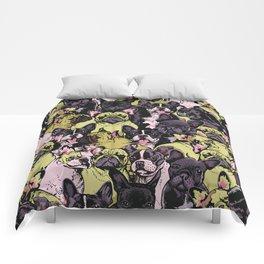 Social French Bulldog Comforters
