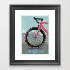 L'Etape du Tour Bike Framed Art Print