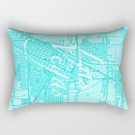 Vintage Las Vegas Aqua Rectangular Pillow