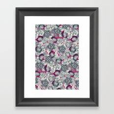 succulents pink indigo Framed Art Print