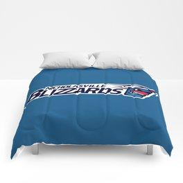 Nicholasville blizzards Full Logo Comforters