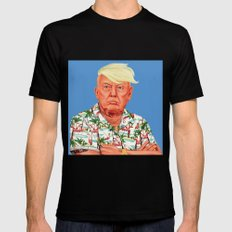Hipstory -  Donald Trump Black Mens Fitted Tee LARGE