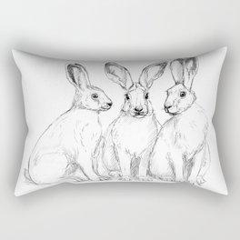 Three Hares sk131 Rectangular Pillow