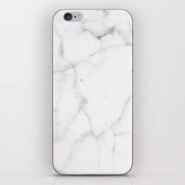Pure Solid White Marble Stone All Over iPhone Skin