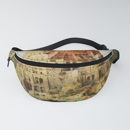 The Tower of Babel 1563 Fanny Pack