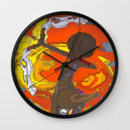 Fighting Elements Wall Clock