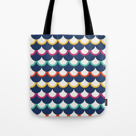 Retro Scales Tote Bag