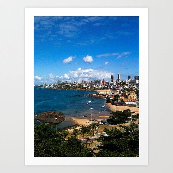 Beach in Salvador / Brazil Art Print