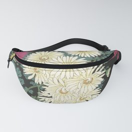 Chrysanthemums and Running Water Fanny Pack