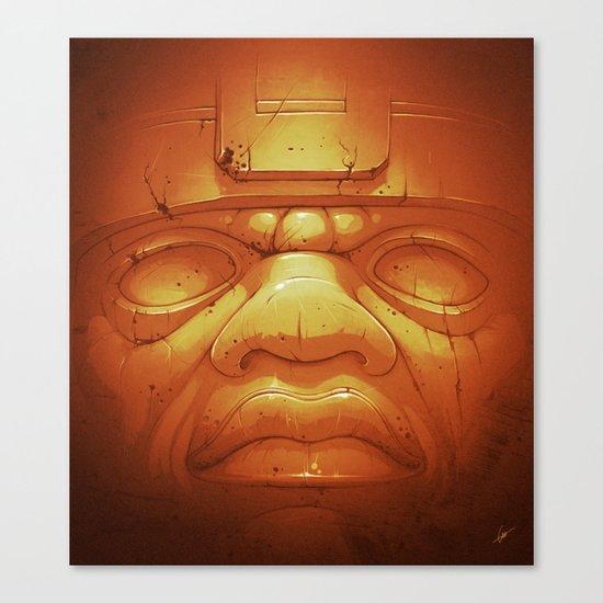 Olmeca II. (Gold) Canvas Print