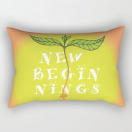 New Beginnings Orange Rectangular Pillow
