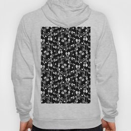 Black and White Floral Pattern Hoody