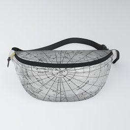 Old Metal Northern Constellation Map Fanny Pack