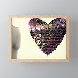 Deeper In Love Framed Mini Art Print