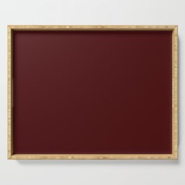 Simply Maroon Red Serving Tray