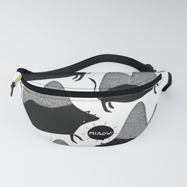 Confused cat camel creature Fanny Pack