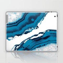 Blue Agate #2 #gem #decor #art #society6 Laptop & iPad Skin