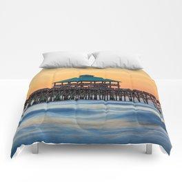 Folly Pier Sunrise Comforters