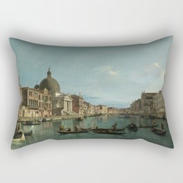 A View of the Grand Canal by Canaletto Rectangular Pillow