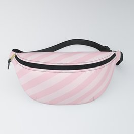 Mini Soft Pastel Pink Candy Cane Stripes Fanny Pack
