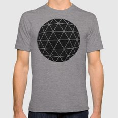 Geodesic Tri-Grey LARGE Mens Fitted Tee