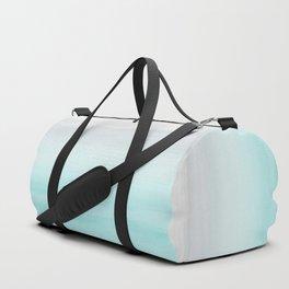 Touching Aqua Blue Gray Watercolor Abstract #1 #painting #decor #art #society6 Duffle Bag