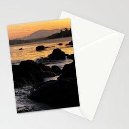 Purple & Gold Sunrise Stationery Cards