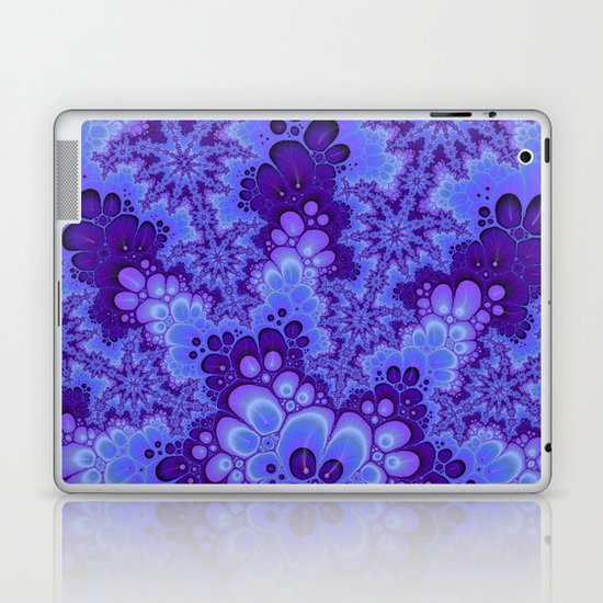 Purple Fractal art Laptop & iPad Skin