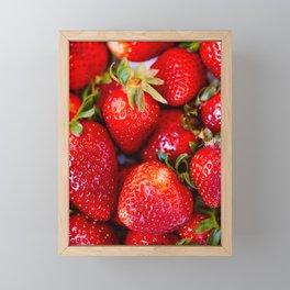 Fresh Strawberries Framed Mini Art Print