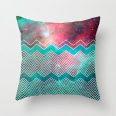 Chevron Galaxy Throw Pillow