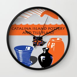 Catalina Island Pottery and Tile Ad #2 Wall Clock