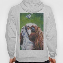 English Toy Spaniel dog art portrait from an original painting by L.A.Shepard Hoody