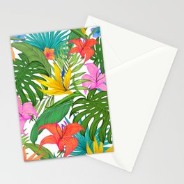 Tropical Colorful Palm Garden Stationery Cards