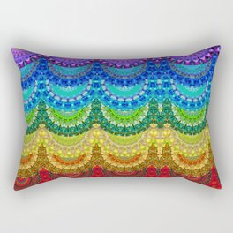 Chakra Mandala Healing Art by Sharon Cummings Rectangular Pillow