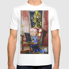 Where my Prince will be Mens Fitted Tee MEDIUM White