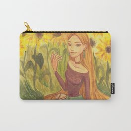 Sunflower Girl Carry-All Pouch
