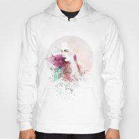 fashion illustration Hoodies featuring FASHION ILLUSTRATION 3 by Justyna Kucharska