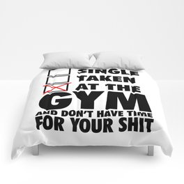 At The GYM  Comforters
