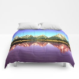 Grand Tetons 🌄 Purple Reflection Comforters