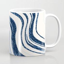 Textured Marble - Indigo Blue Coffee Mug