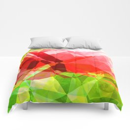 Red Rose with Light 1 Abstract Polygons 1 Comforters
