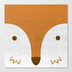 Mr Fleecy Fox Canvas Print