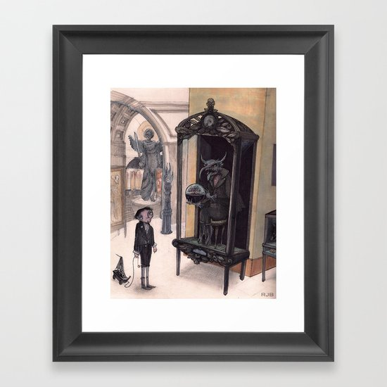 in the Museum Framed Art Print