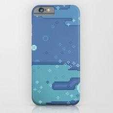 Blue Space Bubbles (8bit) Slim Case iPhone 6s