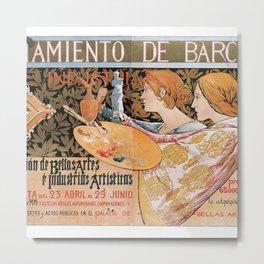 3ra. Exposición de Bellas Artes é Industrias Artísticas Metal Print