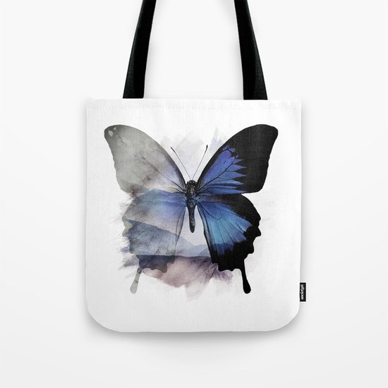 Blue Shadows Butterfly Tote Bag