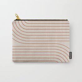 Minimal Line Curvature - Coral II Carry-All Pouch